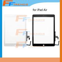 Blanc noir pour iPad 5 5ème écran tactile numériseur assemblage avec Home Button Glass Panel drop shipping
