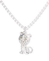 6PCS Shiny Silver Metal Hollow 3D Cat Pendant Chain Necklace...