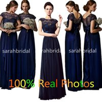 Cheap Off The Rack Bridesmaid Dresses 2015 Dark Navy Chiffon...