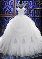Арабский Кристалл бисером платья Свадебные платья бальные без бретелек молния назад Тюль Опухший Свадебное платье платье невесты 2016