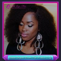 Free shipping 6A Brazilian human hair kinky curly full lace ...