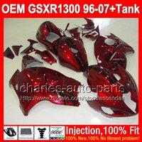 7gifts+ Tank For SUZUKI Hayabusa GSXR 1300 96- 07 dark red bla...
