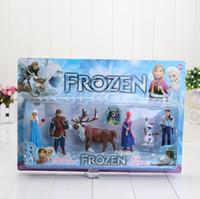 6pcs set Frozen PVC toy Figure Play Set of 6 Anna Elsa Hans ...