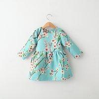 baby girl kids long sleeve outfits plum blossom flower flora...