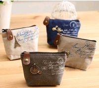 High quality Women' s canvas bag Coin keychain keys wall...