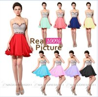Cheap Coral Homecoming Dresses Short Red Lilac Yellow Royal ...