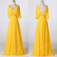 Grace Karin Long Chiffon yellow Ball Gown Evening Formal Par...
