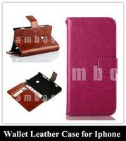 Negocios de lujo del Teléfono Celular Caso Monedero de Cuero de la PU Flip Cover de Crédito Ranuras para Apple Iphone 4 4s 5 5s 5g 5c 6 6plus