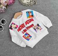Fashion Autumn Boys Girls Shirts Mickey & Friends Cartoon Lo...