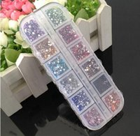 2 mm 12 colors rectangle Acrylic Rhinestone Perfect for 3D N...