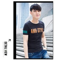 2015 summer men fashion trend tops tees high quality o neck ...