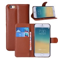 Litchi Grain Wallet Style PU Leather Case Cover for 4. 7 iPho...