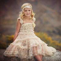 2016 new children princess dress girls lace chiffon baptism ...