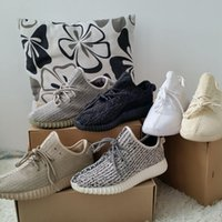 2016 New Kanye 350 Boost Turtle Dove Grey Running Shoes Chea...