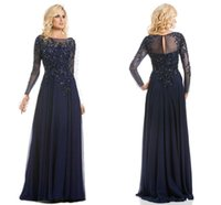 2016 Illusion Long Sleeves Plus Size Mother Of The Bride Dre...