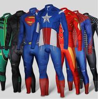 American Super Hero Cylcing Jerseys Sets Spidermen Ironmen B...