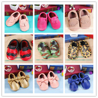 Baby Moccasins Soft Leather Walkers Children Babies Boys Gir...
