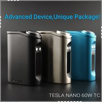 Authentic Tesla Nano 60W TC Box Mod Built In 3600mAh Lipo Ba...