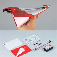 Комплект Оптово-Essential Power Up Electric Paper Plane Самолет преобразования Мода Развивающие игрушки Большой подарок Бесплатная доставка