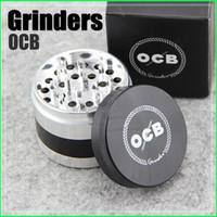 Nouveaux Grinders OCB 4 Couche d'expédition Herb Grinders en alliage d'aluminium Grinder 50mm Métal Grinders VS Sharpstone Grinders Herbal Grinders gratuit
