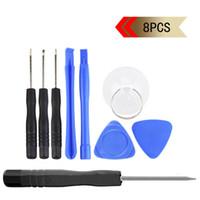 8 en 1 pour iPhone 4-4S-5-5s-6-moblie téléphone cellulaire Reparing outils Réparation Pry Kit outils d'ouverture Pentalobe Torx tournevis fendus