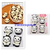 Хорошее качество Freeship Горячие продажи DIY Panda Форма Сэндвич хлеб торт Кондитерские изделия Плесень Формочки Горячие продажи