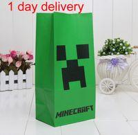 DHL Minecraft paper bags JJ blame Creeper popcorn bag MC par...