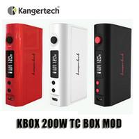 100% d'origine Kangertech KBOX 120 / 200W TC Box Mod 0.05ohm Contrôle de la température 18650 Mod pour Kanger Débardeur Mini Atomiseur