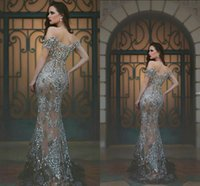 Luxury Cheap Prom Dresses Beads Crystal Off Shoulders Full L...