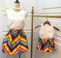 Mother And Daughter Sets 2015 Summer Family Clothing Kids Gi...