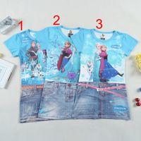 Frozen Elsa &Anna Princess Dresses Kids summer 3design Round...