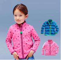 Baby Girls Polar Fleece Winter Polka Dots Coats Children Clo...
