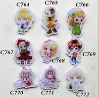 9 different style NEW lovely manga movie brooches gift for k...
