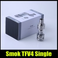 Débardeur ohms kit 5,0 ml Smok TFV4 Single Sous remplissage avec Triple Coil RBA vs triton mini-nautilus