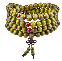 Fashion Tibet Buddhism 108*8mm Wooden Rosary Bead Bracelet M...