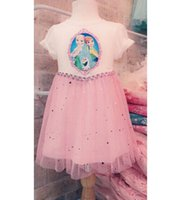 EMS DHL Children Clothing Girls Lace Frozen Dresses Kids Clo...