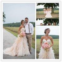 2015 Wedding Dresses Champagne Wedding Dress Sweetheart Low ...