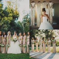 К 2015 году новые платья невесты блесток с экипажа Cap рукав оболочка этаж Длина горячие обычай сделал моды шампанское Свадебные Пром партии платья