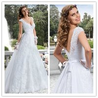 2015 Wedding Dresses with Sash Backless Wedding Dress with C...
