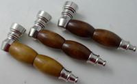 5ps / lot pipes à fumer en bois tuyau de tabac tuyaux en bois mélangent des couleurs moins chères pipe pipe