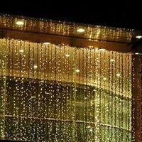 3*3m 6*3m 300 600leds curtain window icicle led string fairy...