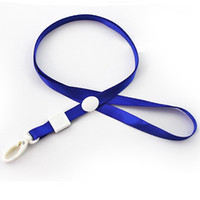 Fashion Candy Colors Neck Strap Lanyard With White Plastic C...