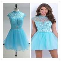 2015 Real Images Homecoming Dresses with Crystal Beaded Shor...