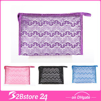 Beauty Pure Cosmetic Bag Lace Makeup Bag with Zipper 7 Color...