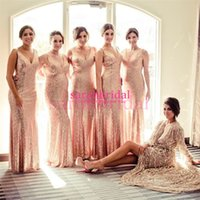 2015 Long Sequin Bridesmaid Dresses For Maid of Honor Countr...