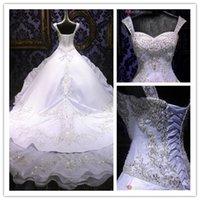 2015 Luxury Wedding Dresses With Embroidery Beading Princess...