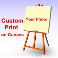 Ваше фото, друзья семьи Ребенок или селфи Фото, Любимые изображения на заказ Печать на холсте Жикле Art Краска Home Decor стены