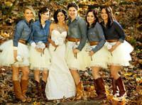 Открытый Свадьба белой пачке невесты платья дешевые Короткие мини Длина выполненная на заказ невесты платья 2015 Юбка Тюль Для Bridesmaid