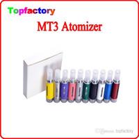 eGo MT3 clearomizer atomizador para el cigarrillo electrónico Evod kits de cigarrillos electrónicos atomizador Varios colores libre de DHL
