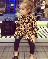 Girls Clothes Girl Leopard Printed Tench Coats Autumn Kids F...